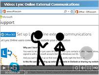 Miniatuur en koppeling naar video: Externe communicatie met Lync Online