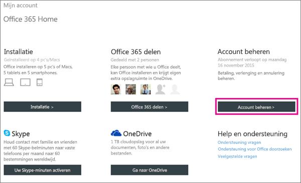 Office 365 voor thuisgebruik annuleren ondersteuning voor office - Office opslag tip ...