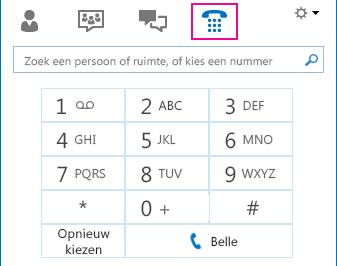 Schermafbeelding van pictogram Telefoon met een toetsenblok dat kan worden gebruikt om te bellen