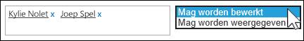 Een toegangsinstelling selecteren voor personen die zijn uitgenodigd om een document delen