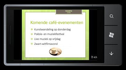 PowerPoint Mobile 2010 voor Windows Phone 7: bewerken en weergeven op uw telefoon