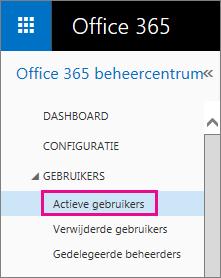 Schermafbeelding van het menu Gebruikers met Actieve gebruikers gemarkeerd.