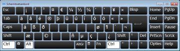 Schermtoetsenbord met Russische Cyrillische tekens
