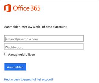 Aanmeldingspagina voor portal.Office.com