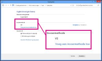 Een invoermethode toevoegen in Windows 8