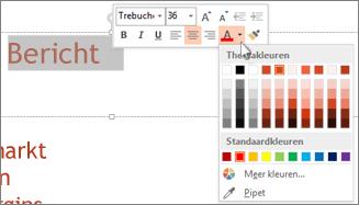 De kleur van tekst wijzigen