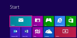 Strona startowa systemu Windows 8 z kafelkiem Poczta