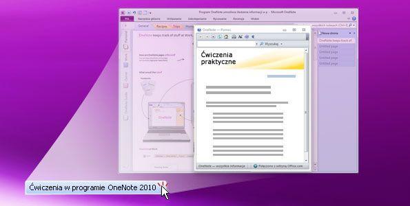 Ćwiczenia w programie OneNote 2010