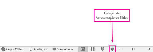 shows where the slide show view button is in powerpoint