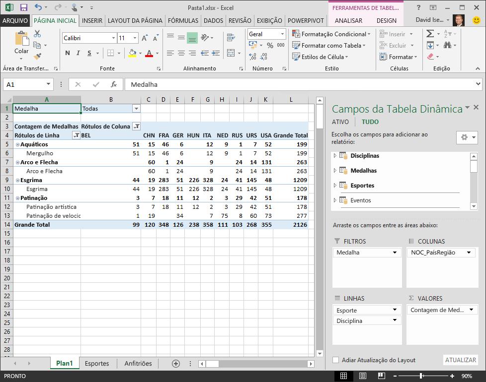 Tutorial: Importar dados para o Excel 2013 e criar um Modelo de dados ...