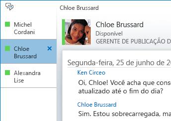 Captura de tela mostrando uma conversa com guias