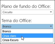 Escolher um Tema do Office diferente