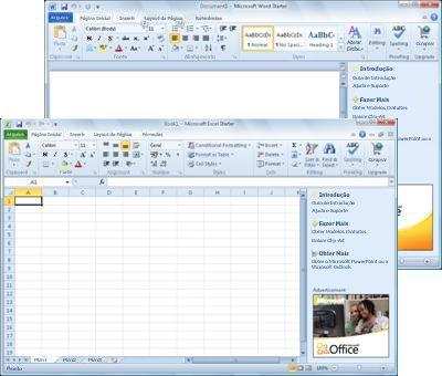 Word Starter e Excel Starter