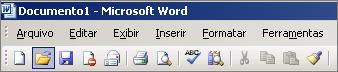 Menu principal no Word 2003