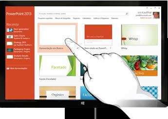 PowerPoint em dispositivos de toque