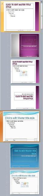Vários slides mestres