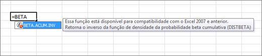 Exemplo de AutoCompletar Fórmula