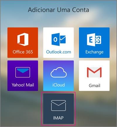 Adicionar uma conta IMAP