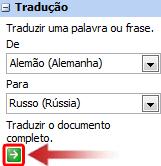 Caixa de texto Traduzir