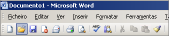 Menu principal no Word 2003