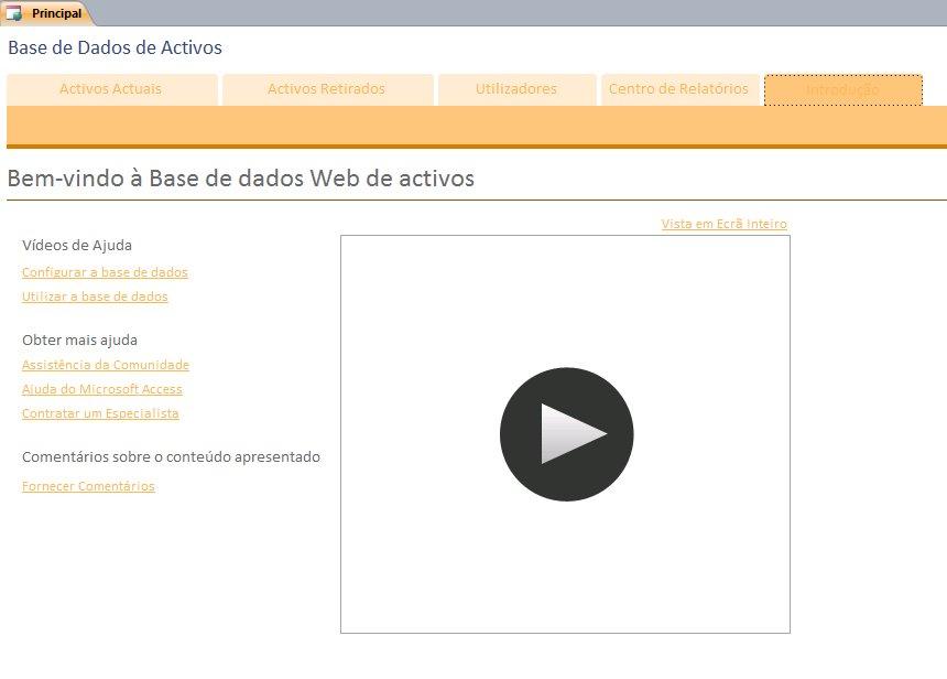 Base de Dados de Activos Web
