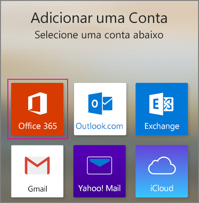Adicionar conta do Office 365