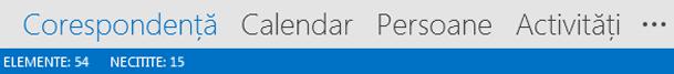 Bara de navigare Outlook 2013