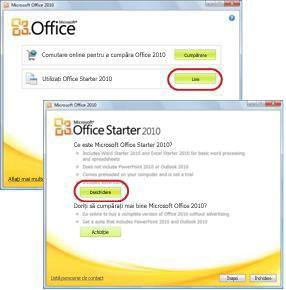 Prima utilizare Office Starter