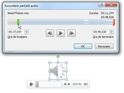 Ascundere parțială audio
