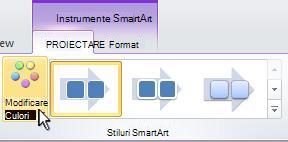 Modificarea culorii ilustrației SmartArt.