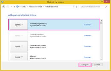 Metodă de intrare nouă în Office 2016, Windows 8