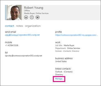 gestionați profilurile pentru persoanele de contact