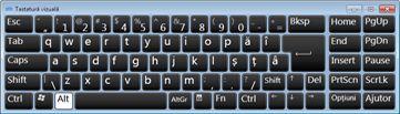 tastatură vizuală cu caractere rusești chirilice