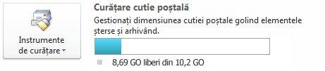 Indicator de spațiu liber disponibil în cutia poștală