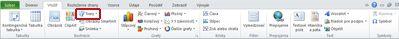 Karta Vložiť so zvýraznenou položkou Tvary v programe Excel 2010.