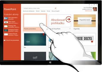 PowerPoint v dotykových zariadeniach