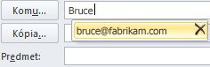 Zoznam automatického dokončovania s ikonou pre odstránenie