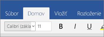 Karta Domov vo Worde Mobile vo Windowse 10