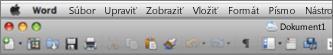 Hlavné používateľské rozhranie pre Word for Mac 2011