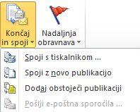 Dokončanje spajanja dokumentov
