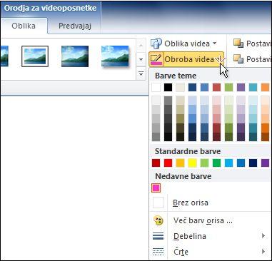 Spreminjanje barve videoposnetka