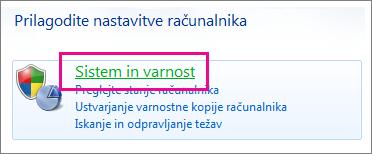 Nadzorna plošča v operacijskem sistemu Windows 7