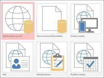 Pogled predlog na začetnem zaslonu v Accessu