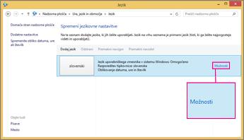 Možnosti načina vnosa v sistemu Office 2016 sistema Windows 8