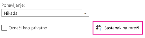"Outlook Web App, ""Sastanak na mreži"""