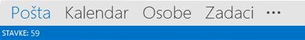 Elementi programa Outlook