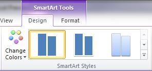 """Grupa """"SmartArt stilovi"""" na kartici """"Dizajn"""" u okviru """"SmartArt alatke"""""""
