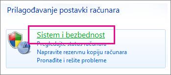 Windows 7 kontrolna tabla