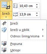 "Lista posle klika na dugme ""Izreži"""