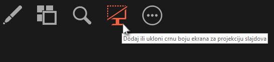 Dodaj ili ukloni crnu boju ekrana za slajd